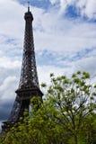 Der Eiffelturm im Frühjahr stockbild