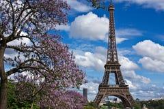 Der Eiffelturm im Früjahr lizenzfreies stockbild