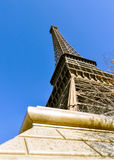 Der Eiffelturm in Paris Stockfotografie