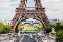 Der Eiffelturm in Paris Frankreich lizenzfreies stockfoto