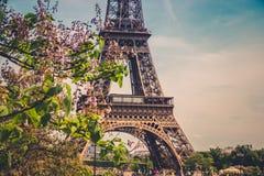 Der Eiffelturm in Paris, Frankreich Lizenzfreie Stockbilder