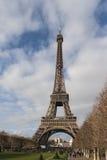 Der Eiffelturm u. der Park Stockfoto