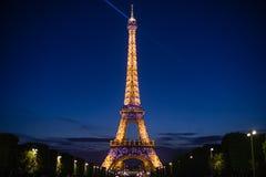 Der Eiffelturm und der Pariser Traum Stockbilder