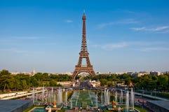 Der Eiffelturm und die Brunnen. stockfoto