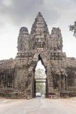 Der Eingang Angkor Thom Stockbilder