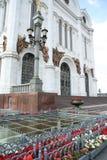 Der Eingang der Kathedrale des Jesus Christus der Retter in Moskau Stockfoto