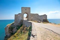 Der Eingang der Zitadelle Kaliakra in Bulgarien. Stockbild