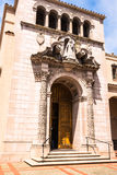 Der Eingang des Carmelite Klosters in San Francisco Stockbild