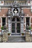 Der Eingang eines Schlosses Stockbilder
