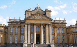 Der Eingang von Blenheim-Palast in England Stockfoto