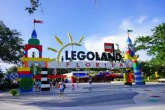 Der Eingang von lego Land Florida Lizenzfreies Stockbild
