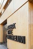 Der Eingang zu ABBA das Museum Stockfoto