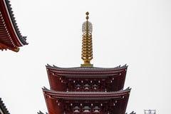 Der Eingang zu Asakusa-Tempel und der alte Sensoji-Schrein, ein berühmter Platz für Besucher Lizenzfreies Stockfoto