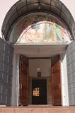 Der Eingang zum Tempel Stockfoto