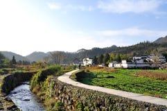 Der Eingang zum Xidi-Dorfstrom Lizenzfreie Stockfotos