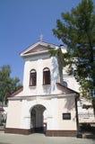 Der Eingang zur orthodoxen Kirche von St. Barbara Pinsk belarus stockbilder