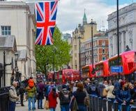 Der Eingang zur Pferdeschutzparade in London Stockfotografie