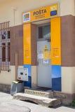 Der Eingang zur Post in Bojnice Lizenzfreies Stockbild