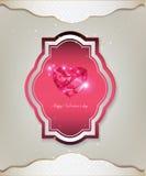 Der Einladungs-Kartensatz Tag des Valentinsgrußes s Lizenzfreie Stockbilder
