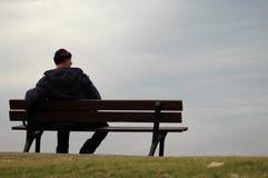 Der einsame Mann Stockbild