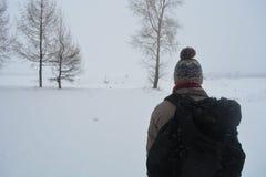 Der einsame Reisende Stockfotos