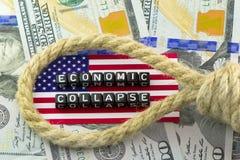 Der Einsturz der US-Wirtschaft Stockfotos