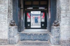 Der Eintritt eines großen alten Hauses Lizenzfreie Stockfotos