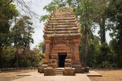 Der einzige Cham-Turm in den zentralen Hochländern von Vietnam, Yang Prong Tower wird in EA-Sup-Bezirk, 100km weg von Buon MA Thu Lizenzfreie Stockfotos