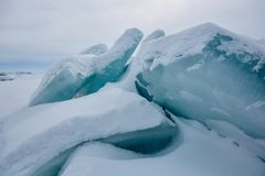 Der Eishügel auf See Balkhash Lizenzfreie Stockfotografie