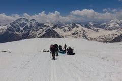2014 07 der Elbrus, Russland: Klettern auf Berg Elbrus Stockfotos