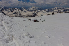 2014 07 der Elbrus, Russland: Klettern auf Berg Elbrus Stockbilder