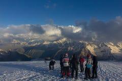 2014 07 der Elbrus, Russland: Klettern auf Berg Elbrus Lizenzfreie Stockbilder