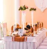 Der elegante Abendtisch Lizenzfreies Stockbild