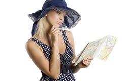 Der elegante Tourist Stockfotografie