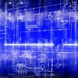 Der elektrische Entwurf Stockbilder