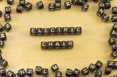 Der elektrische Stuhl des Wortes stockfoto