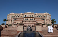 Der Emirat-Palast in Abu Dhabi Stockbild