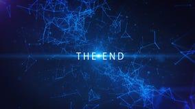 Der Enden-Schirm - abstrakter Bewegungs-Hintergrund Video 4K stock abbildung