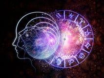 Astralparadigmen des Bewusstseins Stockbild