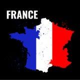 Der Entwurf des Frankreichs mit einer Aquarellflagge nach innen Auch im corel abgehobenen Betrag Stockfotografie