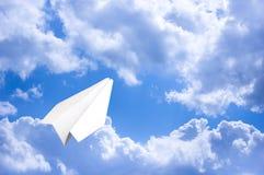 Der Entwurf des Herstellungspapierplans - origami Stockfotografie