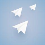 Der Entwurf des Herstellungspapierplans - origami Stockbild