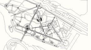 Der Entwurf des Parks Stockbild