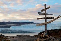 Der Eqi Gletscher in Grönland Stockbild