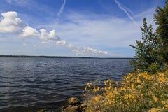 Der Eriesee im Sommer vom Presque-Insel-Nationalpark lizenzfreies stockfoto
