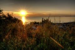 Der Eriesee-Sonnenaufgang Lizenzfreie Stockbilder