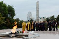 Der Erinnerungskomplex auf Siegquadrat in der Stadt von Voronezh Stockbilder