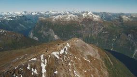 Der erstaunliche Fjord von Geiranger stock footage