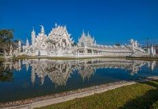 Der erstaunliche Wat Rong Khun-Tempel von Chiang Rai, Thailand lizenzfreies stockbild