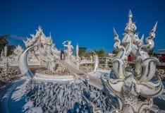 Der erstaunliche Wat Rong Khun-Tempel von Chiang Rai, Thailand lizenzfreie stockbilder